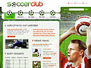 Soccer club Flash template