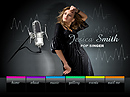 Pop Singer Easy flash templates