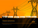 Electric Contractor - Easy flash templates, Electrical technician flash site design