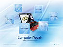 Computer Repair - Easy flash templates, PC Repair FLASH website templates