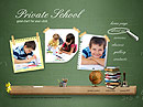 Private School Easy flash templates