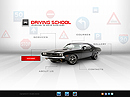 Driving school Easy flash template