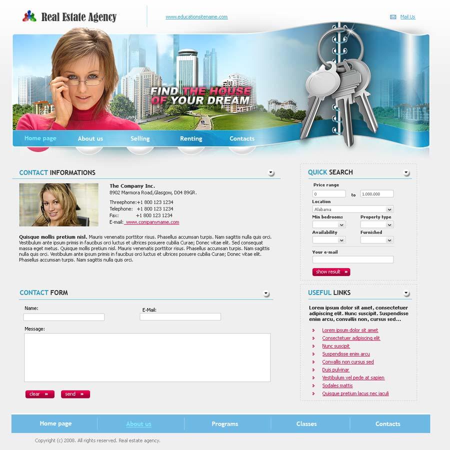 real estate website template id 300110146. Black Bedroom Furniture Sets. Home Design Ideas