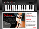 College of music Website template