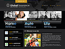 Global insurance Website template