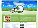 Ecology - Website template, Environment flash site design