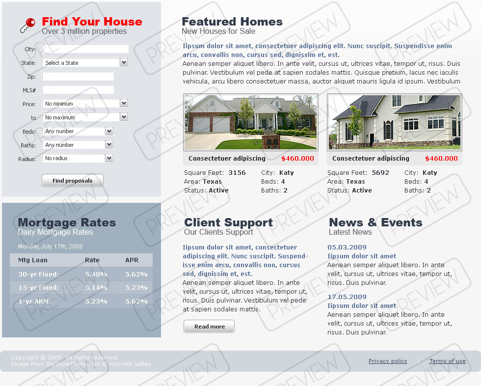 Real Estate - Website template ID:300110469