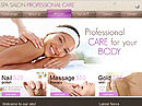 Spa Salon Website template