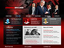 Business Red Website template