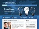 Energy Solutions - Website template, Electrical technician flash site design