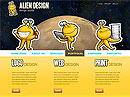 Alien Design Website template