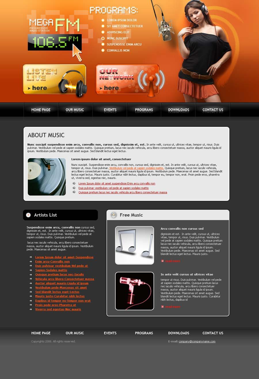 radio fm website template id 300110027