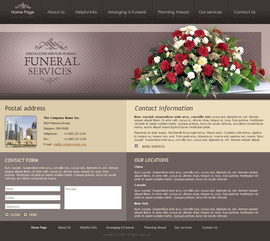 funeral services - website template id:300110071 from simavera, Powerpoint templates