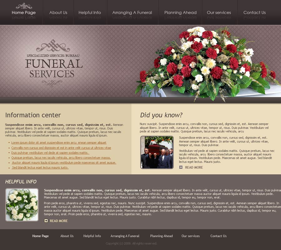 Funeral services website template | Best Website Templates