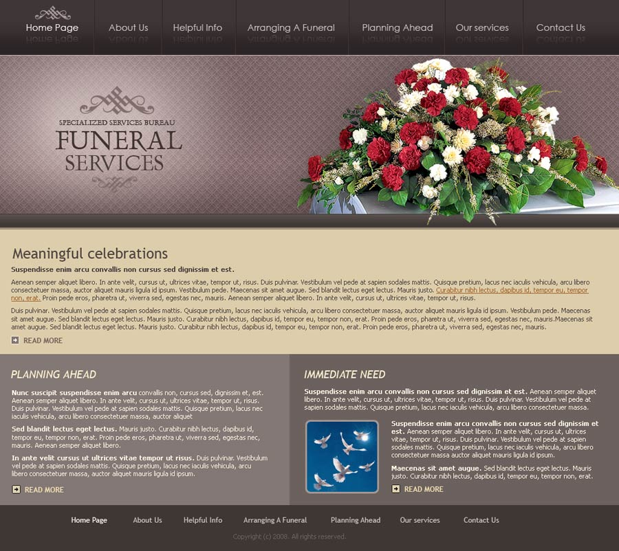 funeral services - website template id:300110071, Powerpoint templates