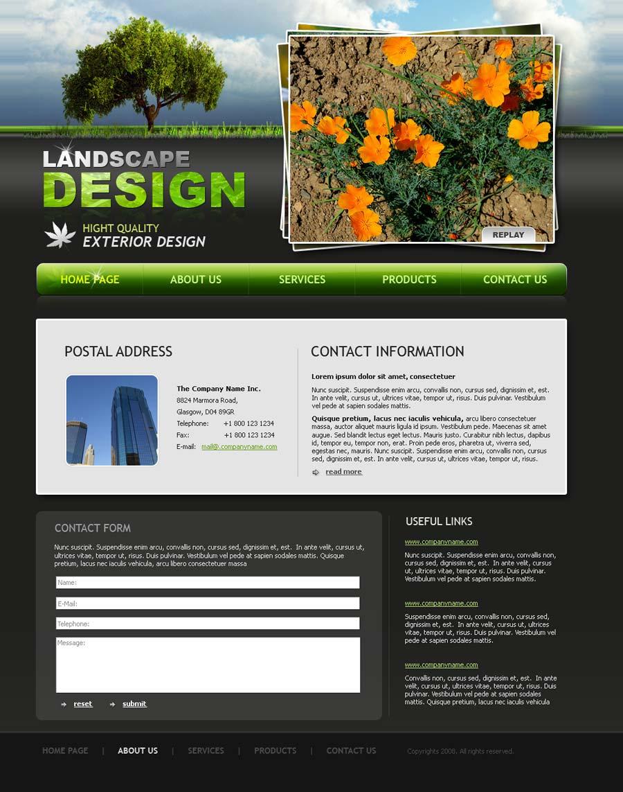 Landscape design website template | Best Website Templates