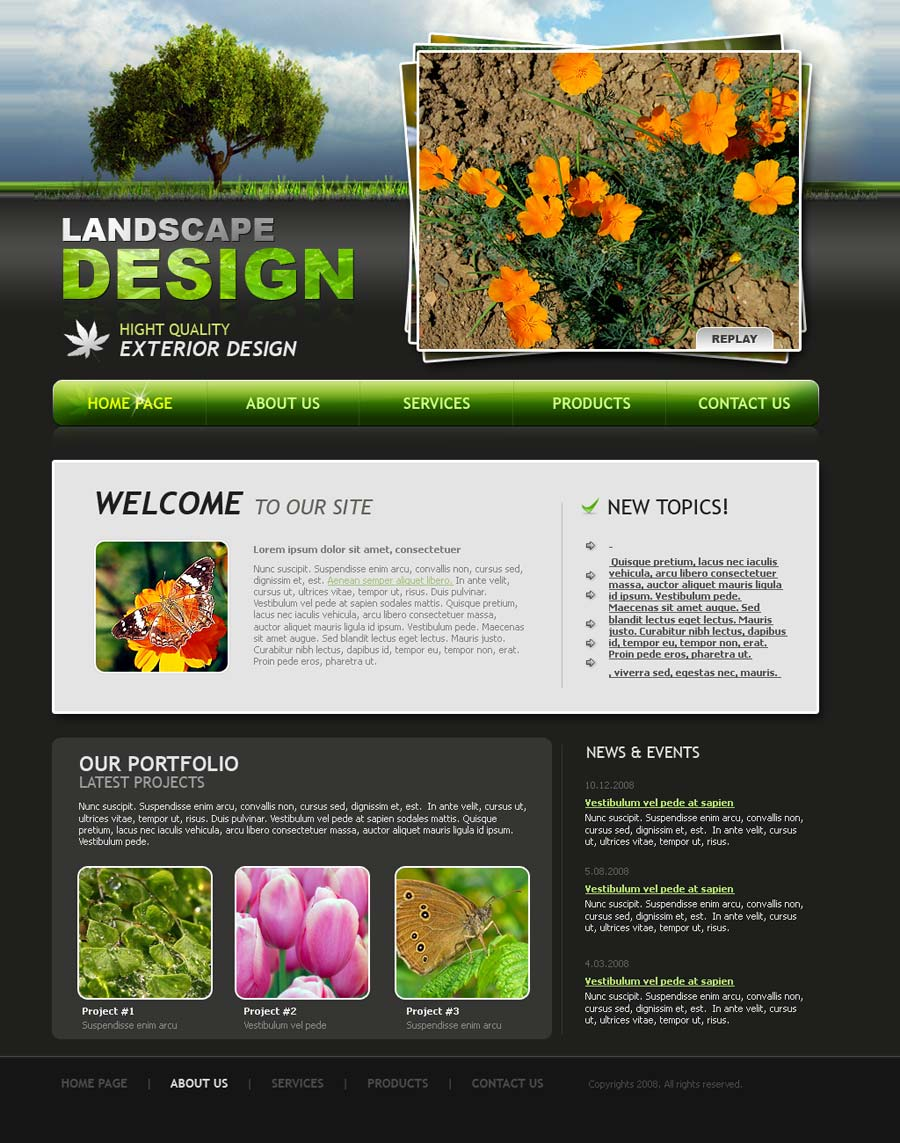 landscape design website templates free koni polycode co