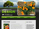 Landscape design - Website template, Landscape Gardening flash templates