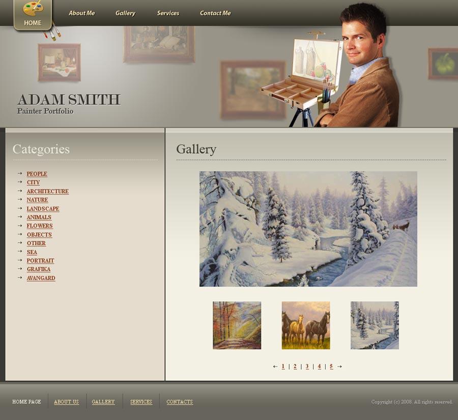 Painter portfolio - Website template ID:300110095 from SiMaVerA.com