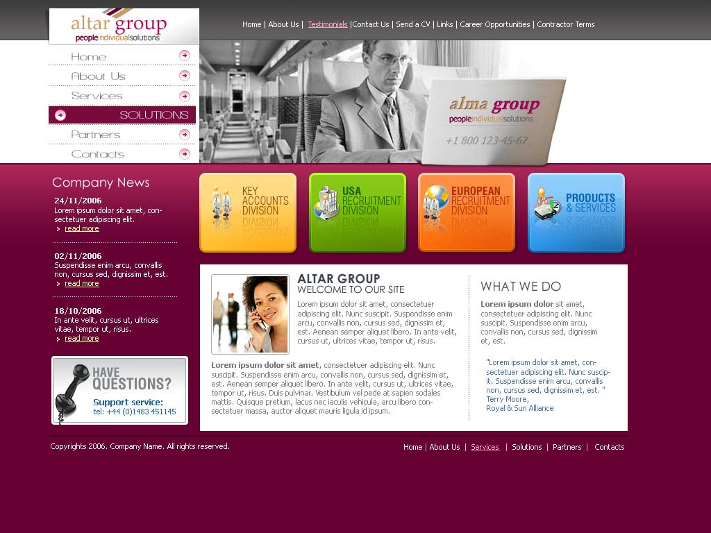 1024x768 Website Template Group Website Template