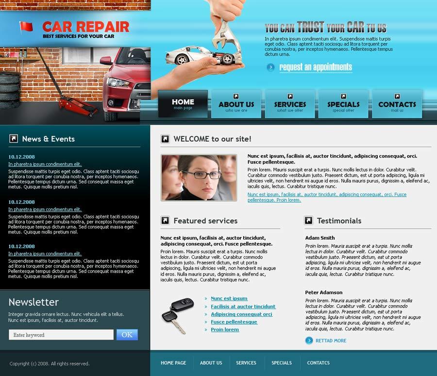 car repair website template best website templates