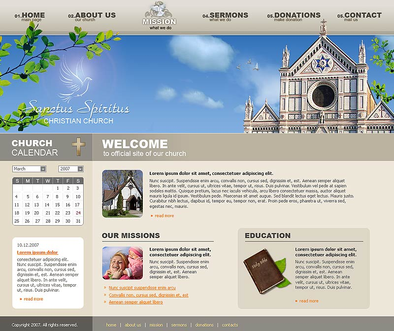 Church Website Template ID - Church website templates