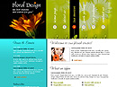 Floral design Website template