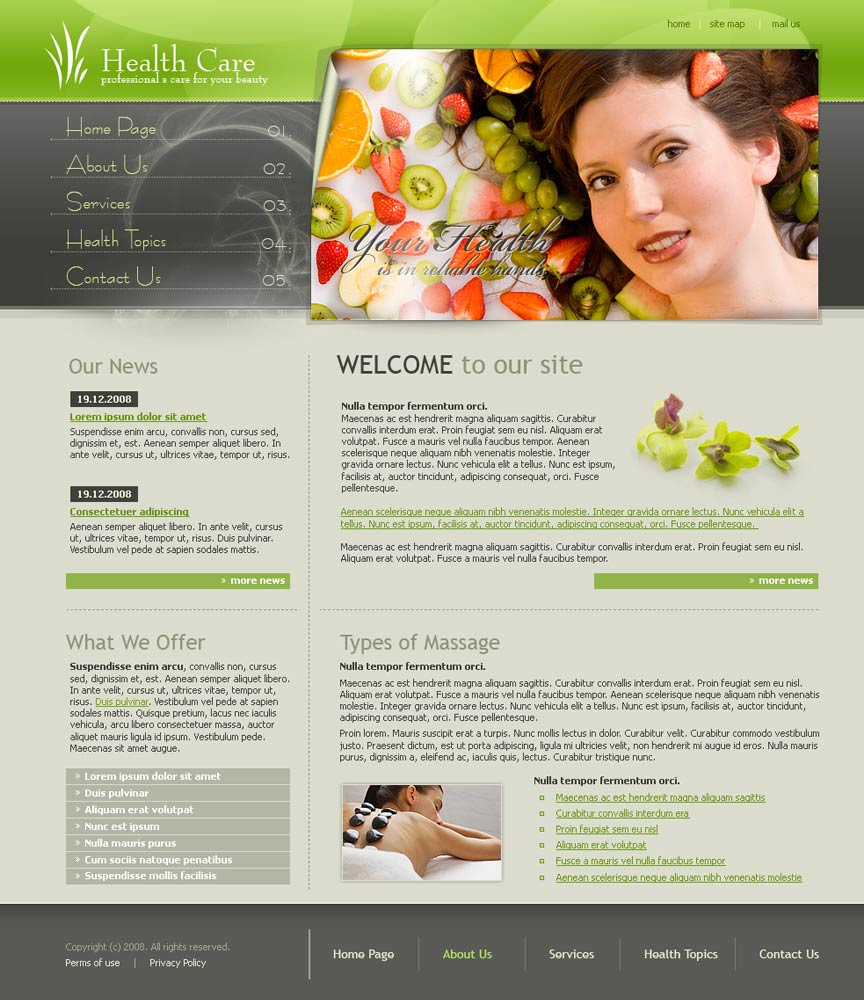 Health care website template | Best Website Templates