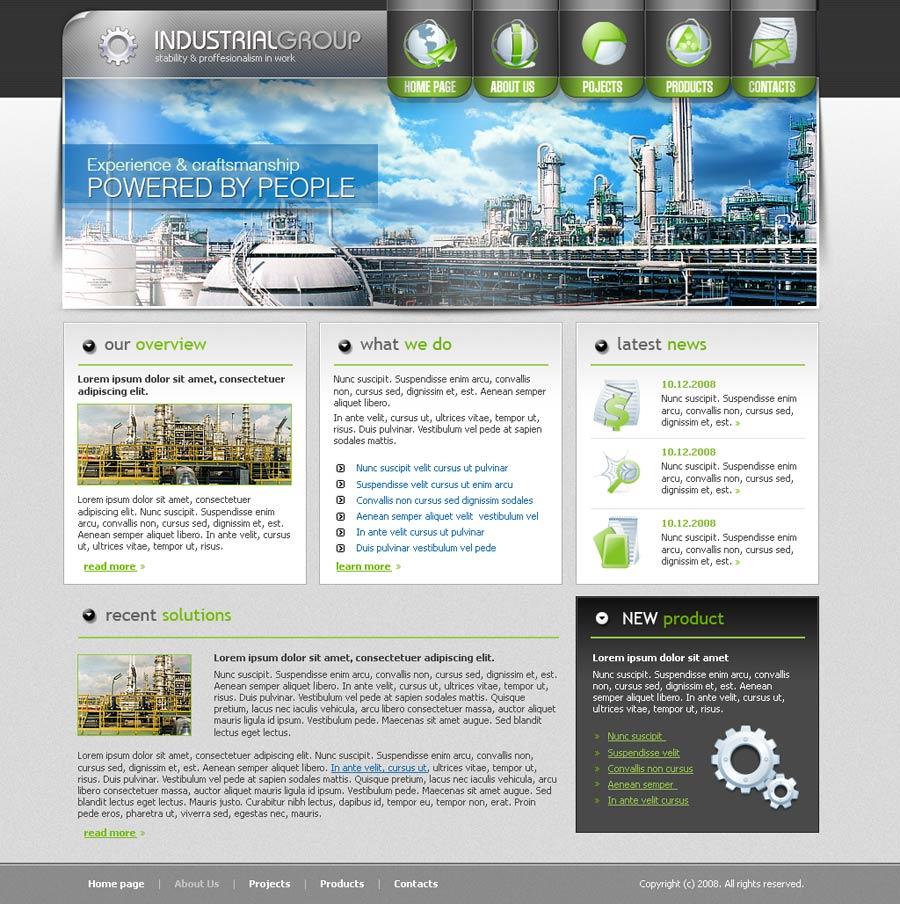 Industrial Website Templates