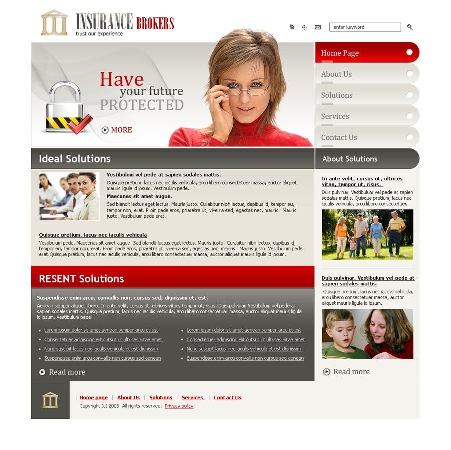 insurance broker templates  Insurance Brokers website template | Best Website Templates