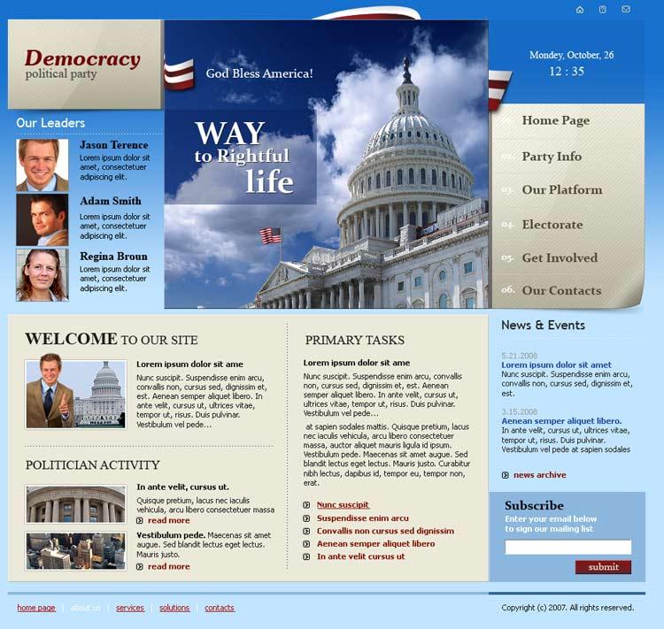 Political Party Website Template Best Website Templates - Political website templates