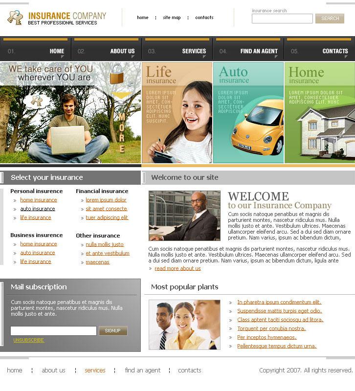 Insurance website template   Best Website Templates