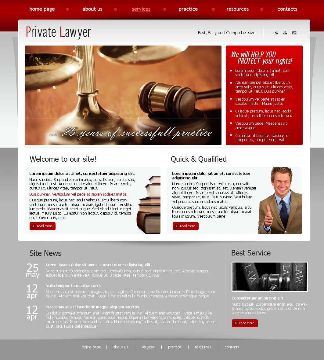 Private Lawyer HTML Website Template Best Website Templates - Lawyer website template