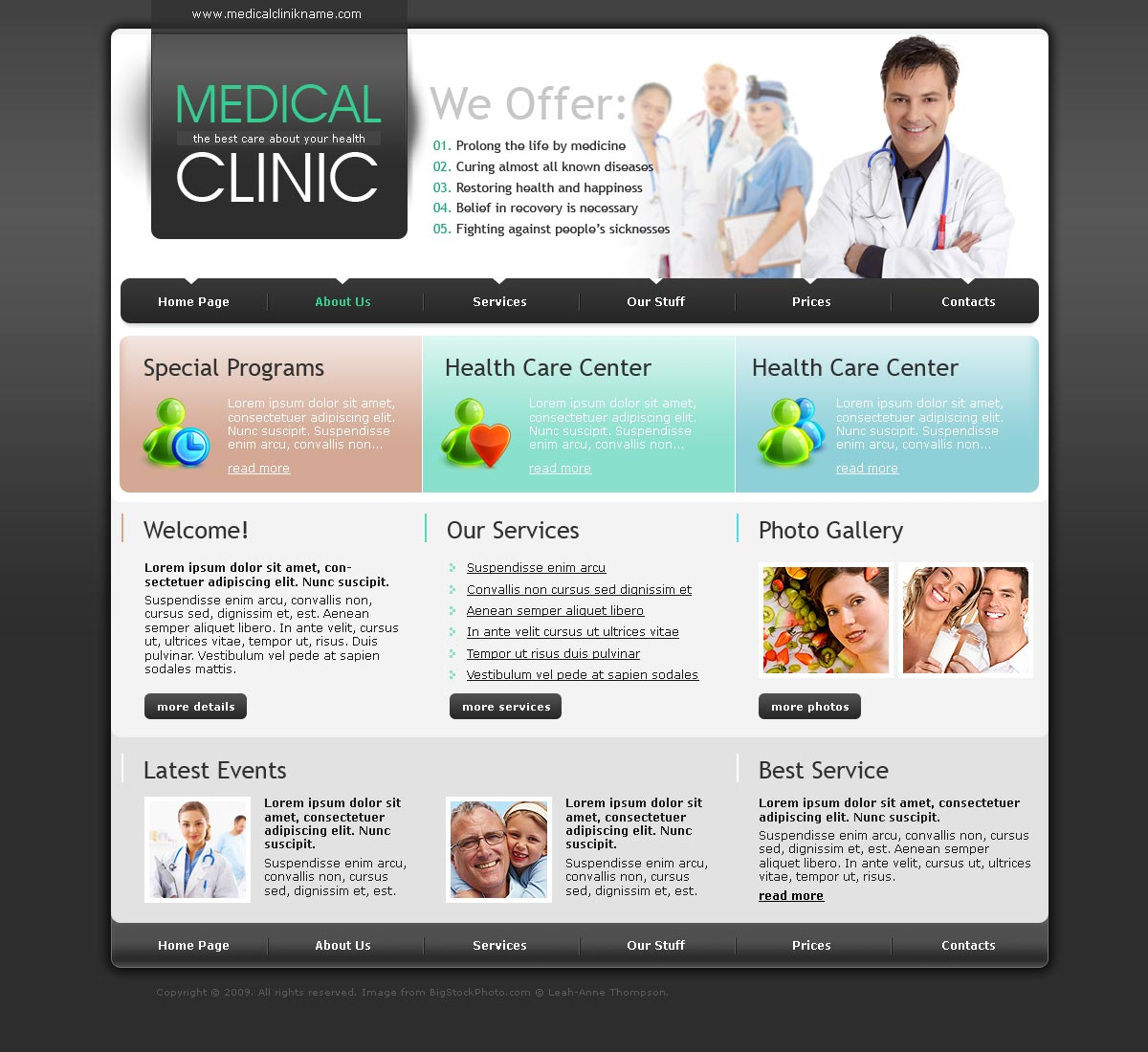 Medical Clinic Html Template Id300110441