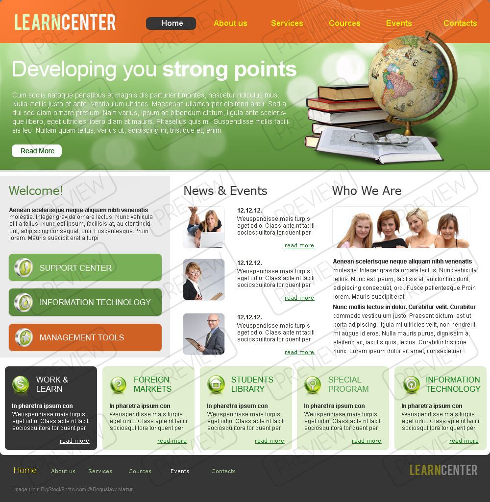 Learning Center Html Template 110776 Simple Templates