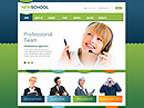 New School - HTML template, Schooling flash site design