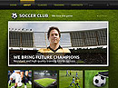 Soccer Club - HTML template, HTML website templates