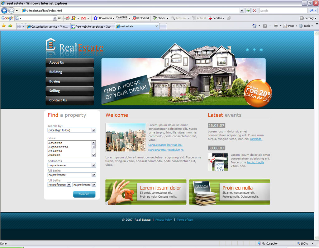 Real Estate's Homepage