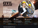 Civil Engineering - HTML template, HTML website templates