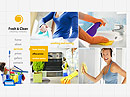 Cleaning company HTML5 template