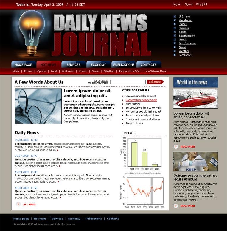 Daily news HTML website template | Best Website Templates
