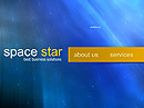 Space star Flash template