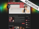 Sound wave radio Bootstrap template