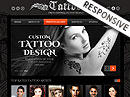 Tattoo design HTML Template