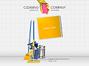 Cleaning co. Flash Site Template