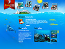 Diving club Flash Site Template