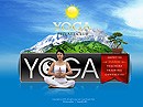 Yoga club Flash template