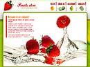 free Sweet fruit website template