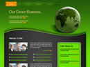 free Green business website template