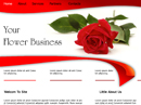 free Flowers Store website template
